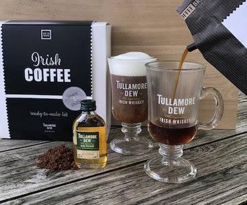 Koffiepakket Cadeauset Met Irish Whiskey Glazen En Whiskey