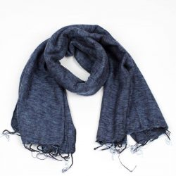 sjaal met verhaal sjaal jeansblauw fairtrade