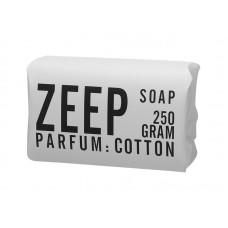 zeep van mijn stijl in de geur cotton, 250 gram industriële verpakking wit met zwart