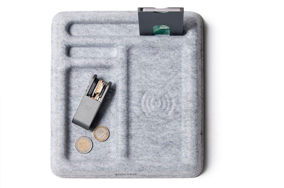 Bureau oplader draadloss van vilt van het merk Walter duurzame gadget