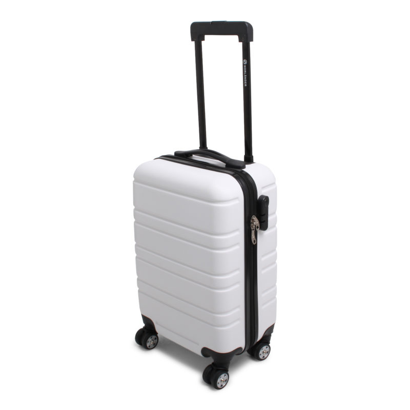trolley handbagagekoffer wit gerecycled materiaal