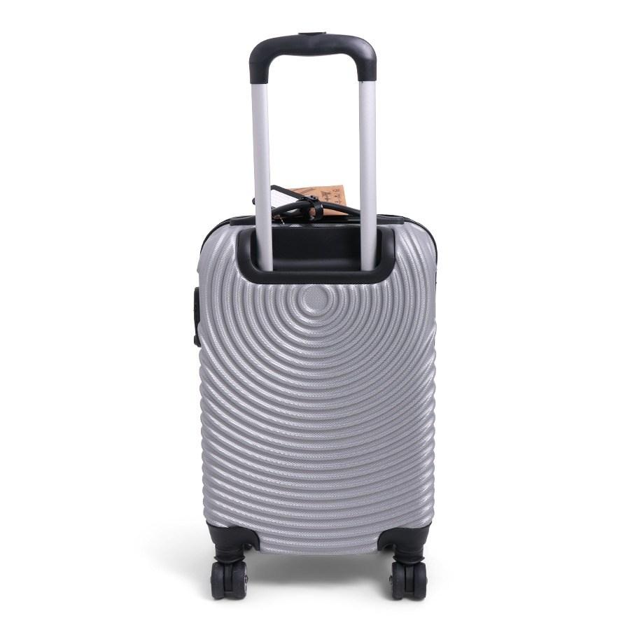 achterkant handbagage koffertje zilver norlander