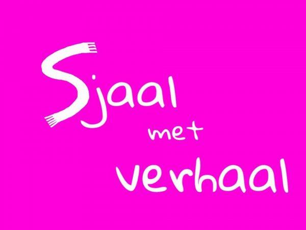 logo sjaal met verhaal violet