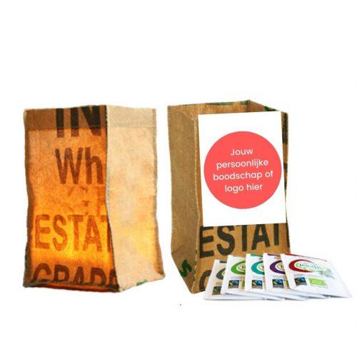 candle bag bedankt cadeau met personaliseerbare kaart