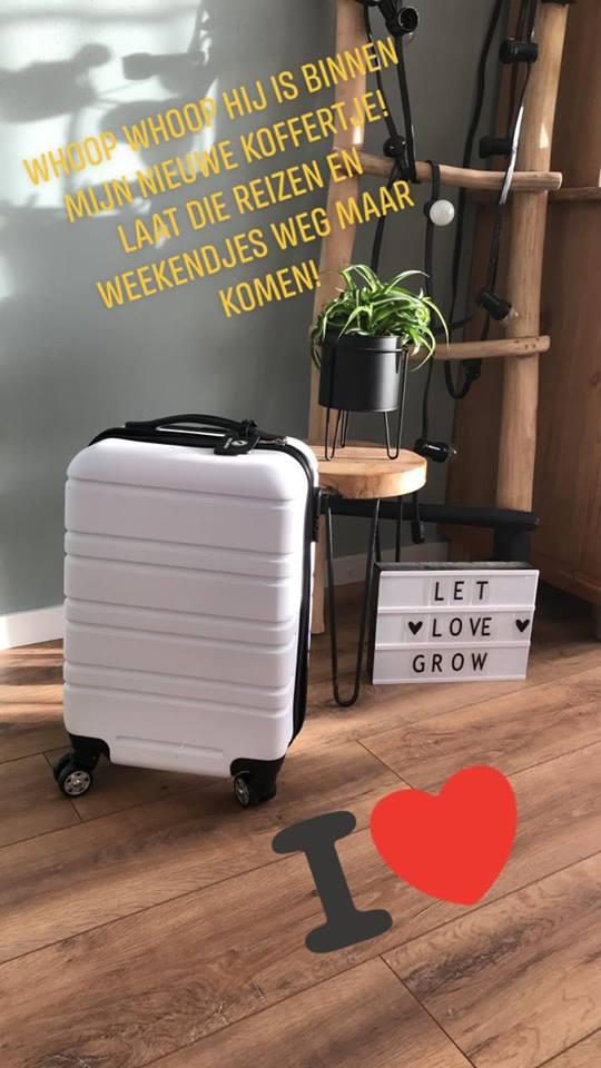handbagage koffertje gerecycled materiaal wit