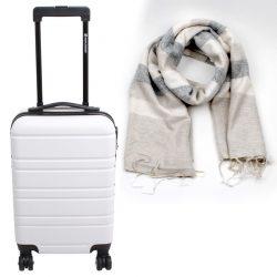 trolley wit met sjaal gestreept duurzaam cadeau pakket fairtrade