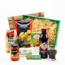 Biologisch kerstpakket inclusief tony chocolonely reep