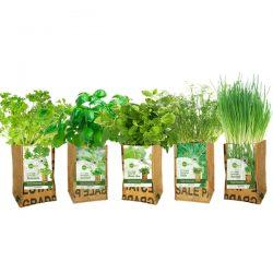 zelf kruiden kweken in kweekzakje duurzaam relatiegeschenk