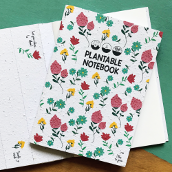 Notitiebook kaft met bloemenopdruk Plantable Notebook Bloom