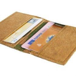 creditkaart pasjeshouder van ge-upcyclede theezakken fairtrade uit India