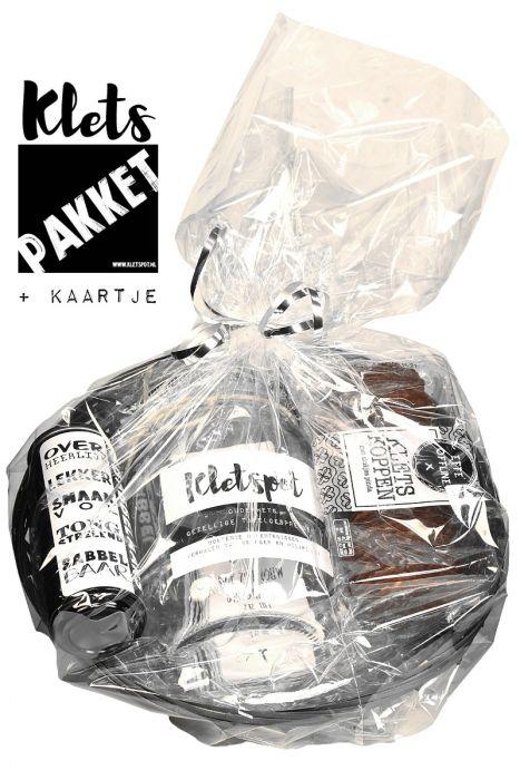 kletspot ingepakt cadeaupakket met kletspot, kletskoppen en roomboterbabbelaars