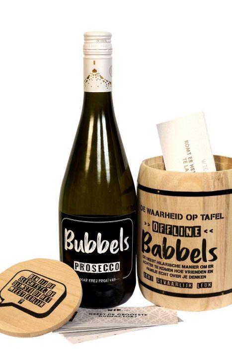 kletspot bubbels en babbels kletspot gezelschapspel met flez prosecco origineel cadeau