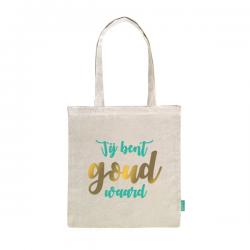 Katoenen tas met opdruk jij bent goud waard bedank cadeau kleur naturel