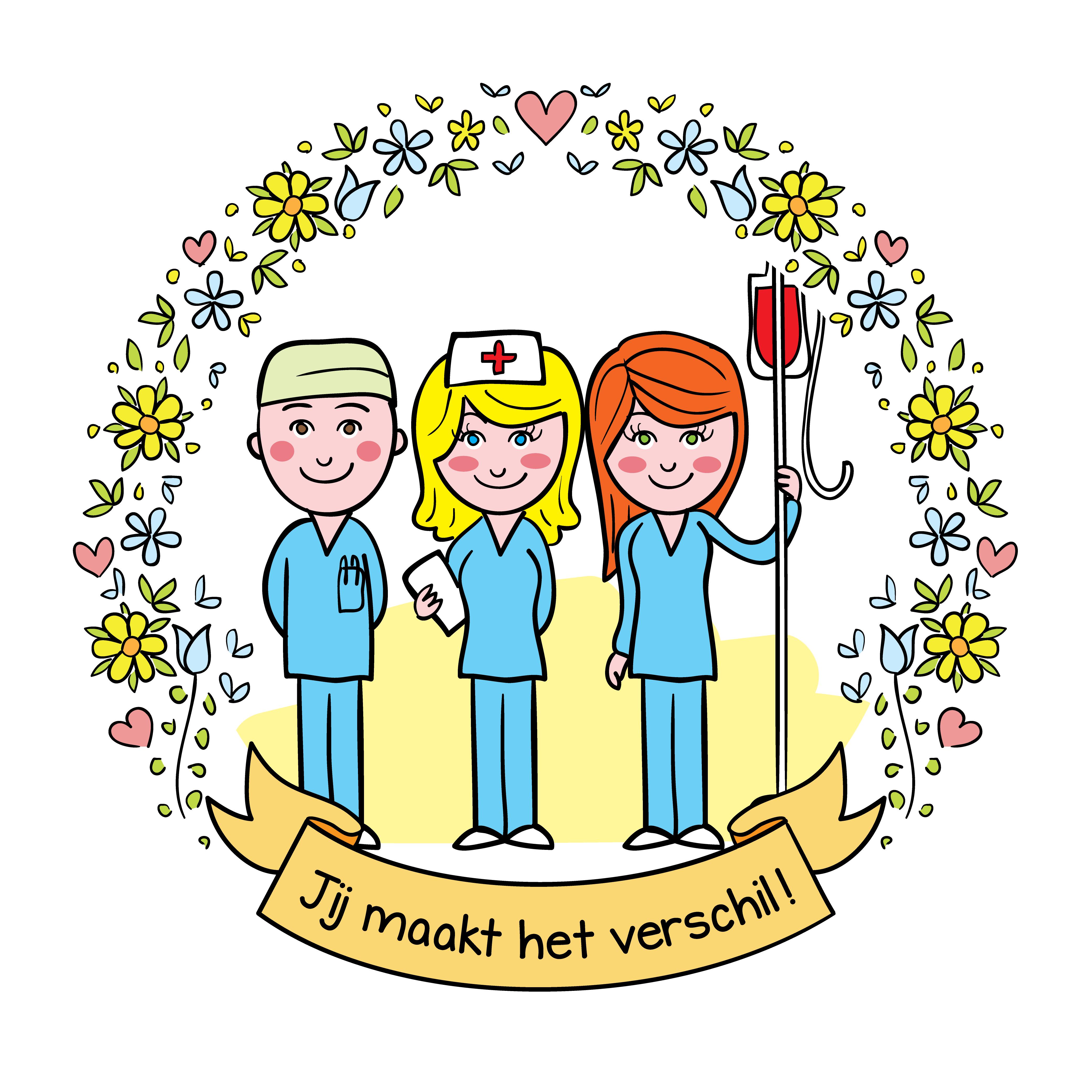 cadeau zorgmedewerkers jij maakt het verschil sticker
