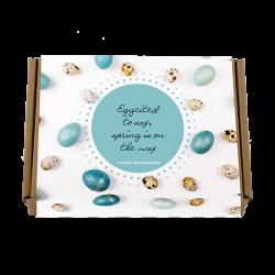 paas cadeau met bloembolletjes egg cited relatiegeschenk met personaliseerbare wikkel