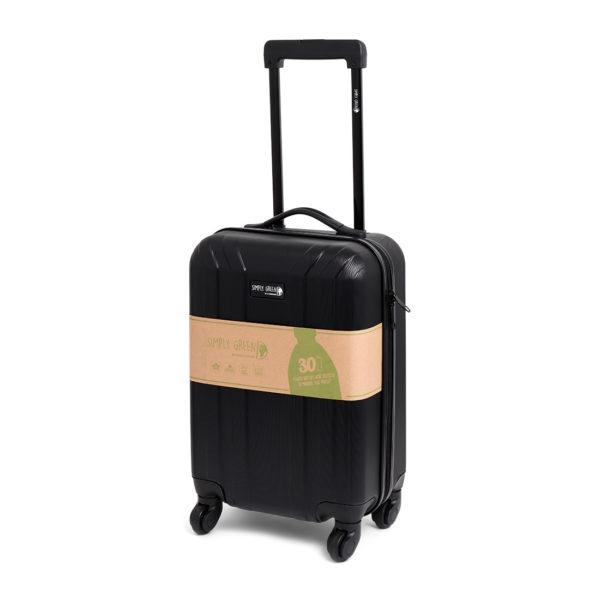 Trolley zwart duurzaam handbage koffertje gerecycled