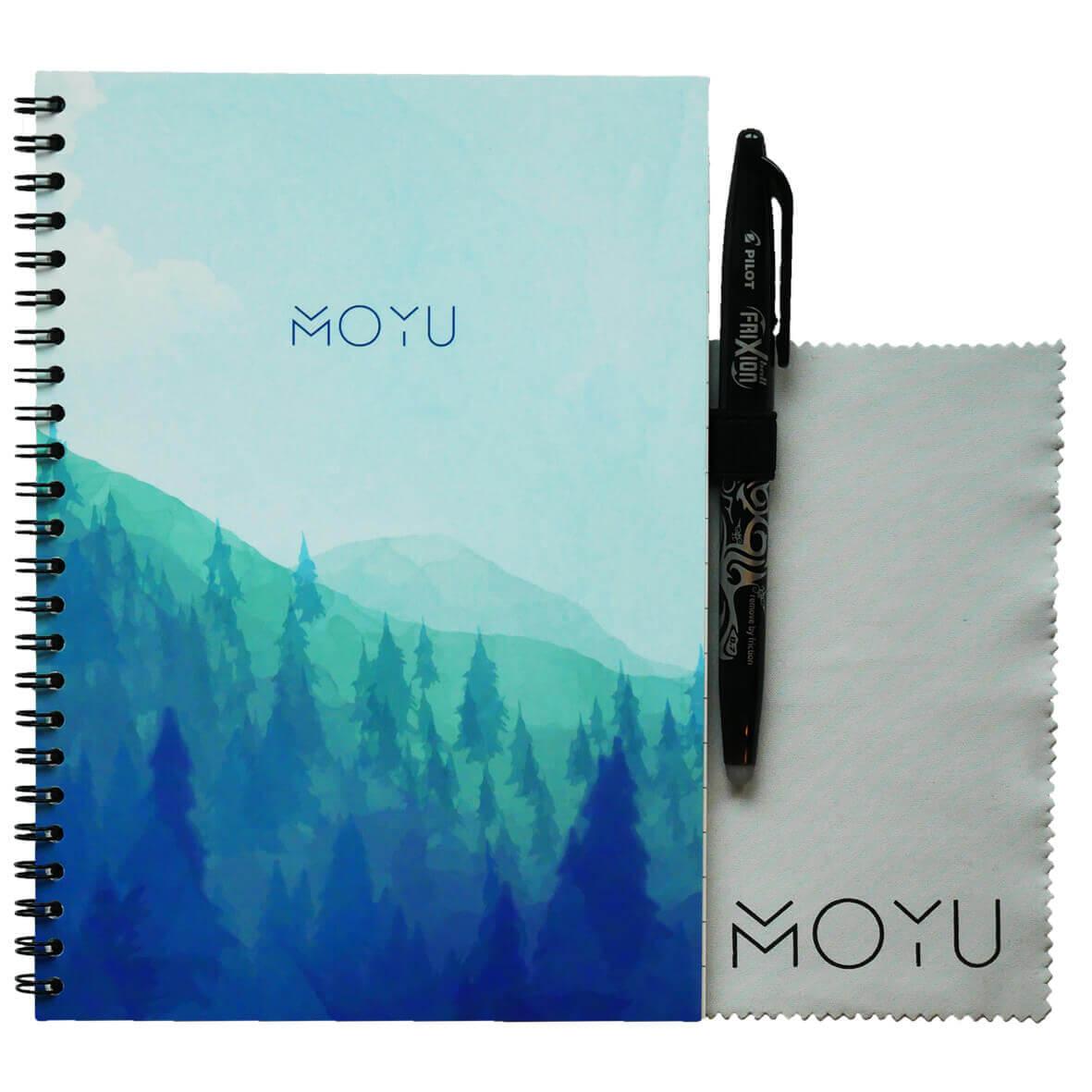 Uitwisbaar notitieboek onderdeel van duurzaam cadeaupakket bamboe
